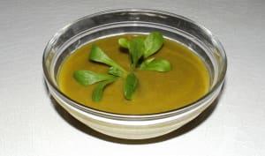 Soupe mâches sauvages et butternut
