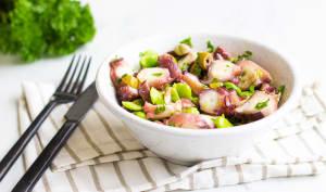 Salade de poulpe aux olives et fèves