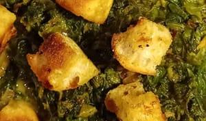 Épinards coco curry pauvre en sel
