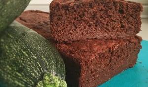 Gâteau chocolat courgette sans matière grasse