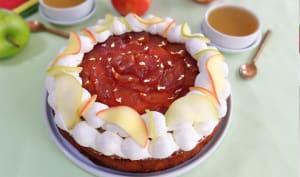 Le gâteau aux pommes caramélisées et crème mascarpone