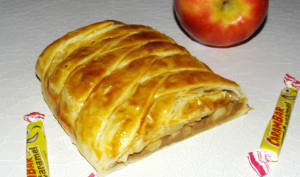 Strudel feuilleté pomme et carambar