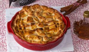 Tourte aux pommes, cannelle et sirop d'érable