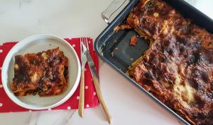 Lasagne épinard, sauce tomate, gingembre