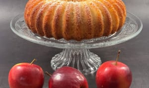 Cake aux pommes et au rhum