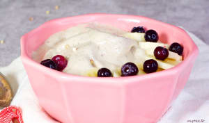 Crème crue au sarrasin et à la banane