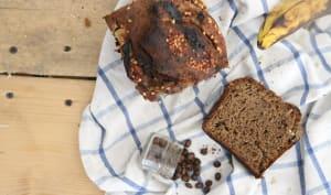 Banana bread au sarrasin et café à l'aquafaba