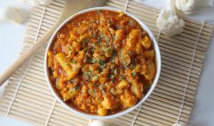 Curry vegan de chou-fleur et lentilles corail