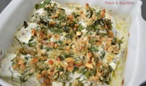 Cabillaud aux herbes, yaourt et noix