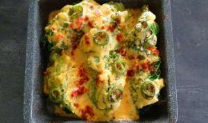 Chou vert au nacho cheese