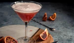 Cocktail au gin et à l'orange sanguine