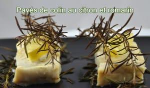 Pavés de colin au romarin et citron
