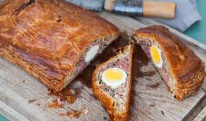 Pâté de Pâques berrichon à la viande et aux œufs