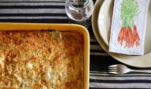 Lasagnes de feuilles de blettes, pâte de filo et feta