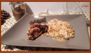 Poulet au four façon risotto