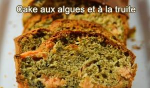 Cake salé aux algues et à la truite