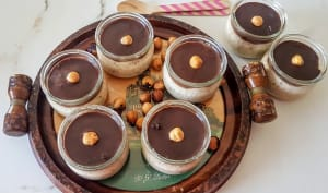 Crème aux noisettes ganache chocolat