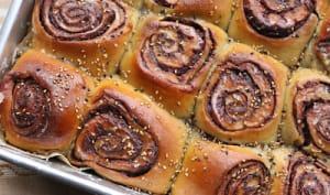 Babka rolls chocolat sésame