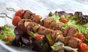 Marinade sucrée-salée pour brochettes de porc au barbecue
