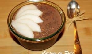 Chia pudding poire chocolat