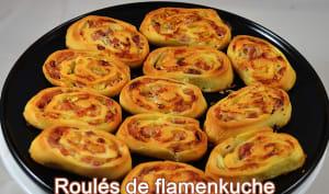 Roulés de flamenkuche pour l'apéro