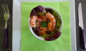 Salade de moules et crevettes
