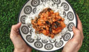 Curry de butternut aux épinards et pois chiches