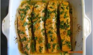 Saumon au four au miel et à la moutarde