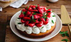 Tarte aux fraises façon madeleine