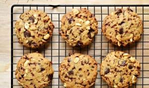 Cookies cacahuètes, caramel, chocolat