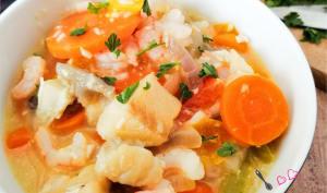Crevettes et cabillaud au curry