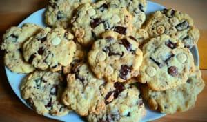 Cookies moelleux aux deux chocolats