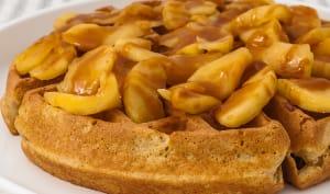 Gaufres aux pommes et au caramel au beurre salé
