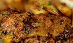 Cuisses de poulet farcies aux herbes, à l'ail et au piment