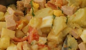 Salade alsacienne cervelas pommes de terre