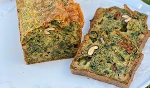 Cake aux orties noix et bleu du Vercors