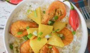 Colombo de crevettes antillais à l'ananas