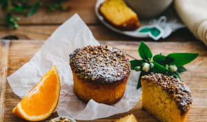 Muffins aux amandes et pistaches