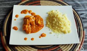 Poulet sauce arachide et tomate
