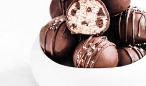 Truffes chocolat flocons d'avoines et amandes healthy