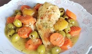 Tajine de Poulet aux Olives et Carotte