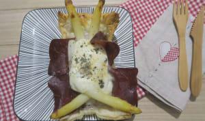 Feuilletés aux asperges, viande des grisons et mozzarella