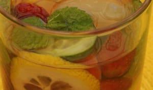 Eau détox fraises concombre citron menthe