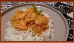 Gambas au curry au Thermomix