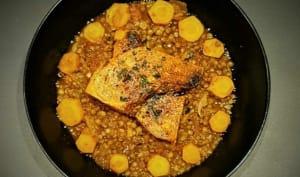 Lentilles vertes du Puy et courge butternut aux épices