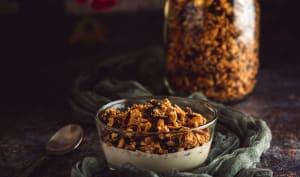 Granola maison aux graines et au sirop d'érable
