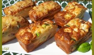 Minis cakes courgette, magret de canard séché