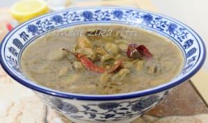 Soupe de fèves fraîches au cumin