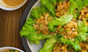 Wraps de laitue au soja