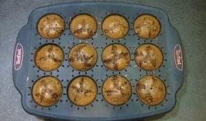 Muffins cajou, noisettes, cacao et pépites de chocolat